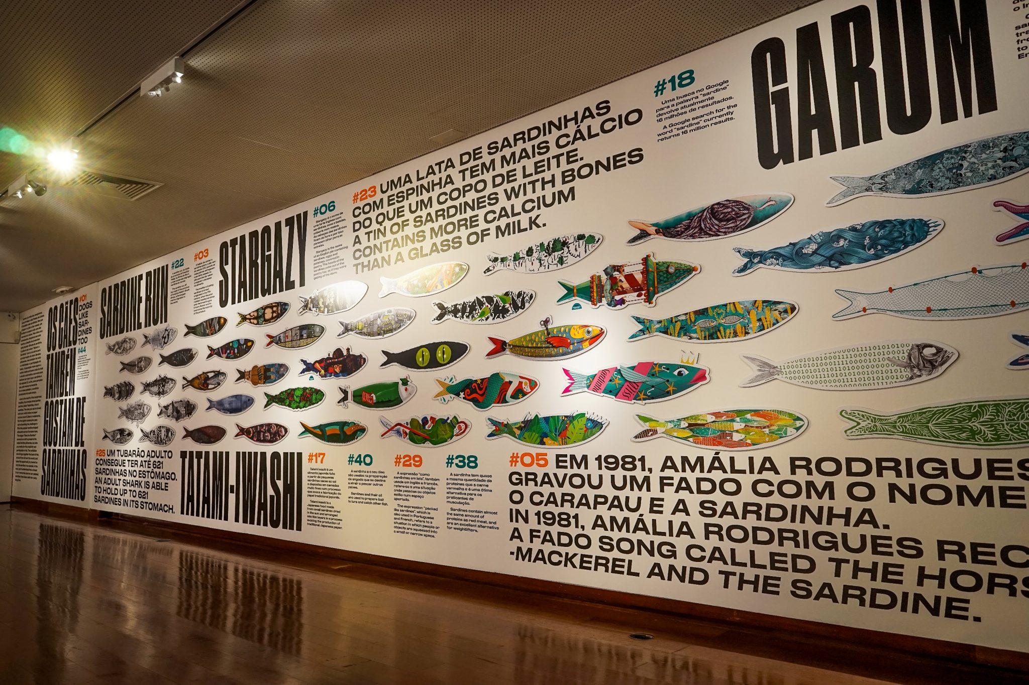Painel da exposição Salvem a Sardinha