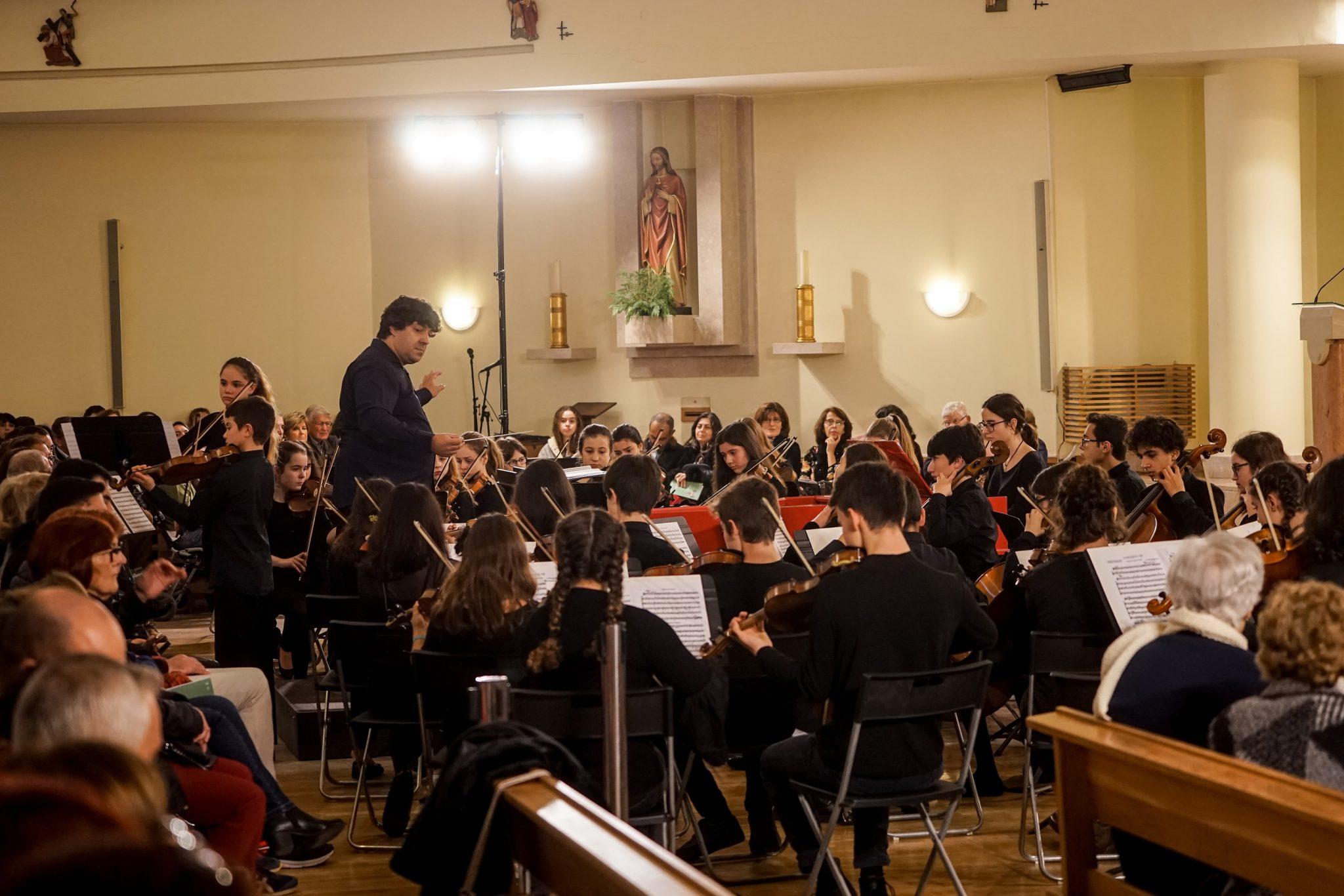Músicos durante concerto